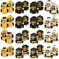 Pittsburgh Penguins Jerseys 72 Patric Hornqvist Jersey 58 Kris Letang 87 Sidney Crosby 71 Evgeni Malin Buz Hokey Formaları Dikişli