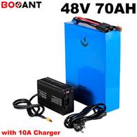 13 s 20 p 48 v 70ah bateria bicicleta Elétrica para Samsung LG Panasonic 48 cep telefonu 18650 v 3000 w 4500 w scooter ile Carregador de bateri