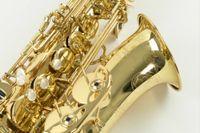Yanagisawa W010 Alto EB TNE SAXOPHON BRASS GOLD Locquer Sax جودة عالية e شقة الأداء الموسيقية أداة مع الملحقات حالة لسان حال