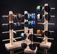 Multi strati di legno di Sunglass Display Rack Shelf occhiali Stand supporto dei monili per il multi coppie di vetro di vetrina trasporto libero