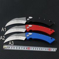 Micro automática Karambit faca Falcão Auto Garra Faca Proof MT TECH 166-1T stonewash LÂMINA 6061-T6 alumínio punho táticos A07 facas