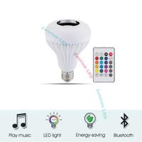 Akıllı Ampul Kablosuz Kontrol Müzik LED Ampuller RGB 24 Anahtar Remote12w Bluetooth Hoparlör LED Ampul USB 3.0 fonksiyonu ile USB fonksiyonu ile olabilir