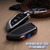 M Color Car Key Case FOB Shell Cover Fit para BMW 5 Series 528li 530li X1 X5 X6