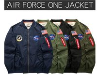 hot Men AIR FORCE ONE MA01 NASA thick wadded jacket Men Wome...