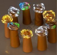 FILO DI RAME Luci 2M 9 della lampada di colore a forma di sughero del tappo della bottiglia di vetro chiaro di vino LED String per il partito di natale sposa di Halloween 50pcs T1I1025