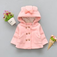 good quality 2019 winter baby girls coat hooded jackets bowk...