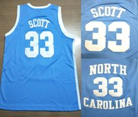 Özel forması szie XXS-6XL North Carolina Tar Heels Koleji 33 Charlie Scott Retro Basketbol Jersey Erkekler
