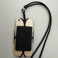 Teléfono móvil de silicona Cordones Correa para el cuello Collar Sling Card Holder Correa llavero para iphone Samsung Huawei Universal cellPhone