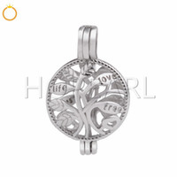 Tree of Life Pearl Cage Pendant Locket Wish Pearl Gift 925 S...