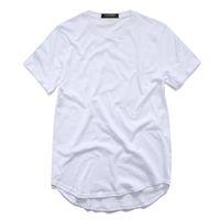 패션 티셔츠 남성용 티셔츠 T 셔츠 Longline 힙합 티셔츠 여성 도시 스와 그 의류 Harajuku Rock Tshirt Homme TX135 F3