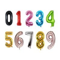"100pcs / lot 40 인치 0-9 다채로운 호 일 풍선 생일 파티 결혼식 장식 40 ""헬륨 풍선 풍선"