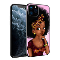 Samsung S10e için Melanin Poppin cep telefonu Kılıf iPhone 11 Pro telefon kılıfı Moda Siyah Kız Yumuşak TPU Telefon Kapak 2bunz ücretsiz nakliye