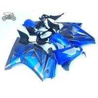 Spritzgussgebläse Set für Kawasaki Ninja 250R 2008-2014 Grünes graues Motorrad ABS-Kunststoff Chinesische Verkleidung Körperarbeit ZX250R 250 EX250
