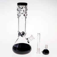 Black Glass Bongs With Downstem bowl Joint 14. 4mm 29cm Smoki...