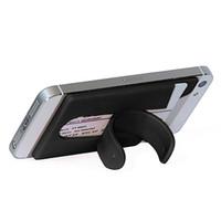 Standı ile Telefon için Silikon Cüzdan Mobil Akıllı Yapışkan Kol Kart Tutucu