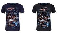 Nueva camiseta de manga corta para hombre con diseño estéreo 3D Scorpion, camiseta de cuello redondo con personalidad ampliada y estéreo