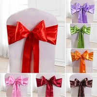 Elastic Chair Band Covers Sashes For Wedding Party Bowknot T...