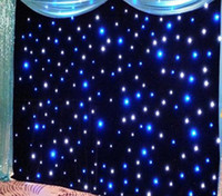 4.6mx7m الأحداث خلفية LED الستار المضاء الستار القماش الأسود + المصابيح البيضاء لحضور حفل زفاف الديكور مع شريط ، ديسكو ، فندق الخ LLFA