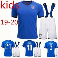 766140fa1f2 New Arrival. Italy World Cup jerseys kids Kits Home Youth Jersey De Rossi  Bonucci Verratti Chiellini INSIGNE Belotti ...