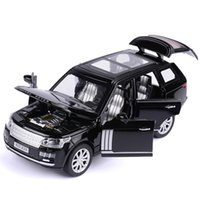 01:32 Range Rover SUV Simulação Toy modelo de carro Alloy Pull Back Brinquedos Gift Collection Off-Road Vehicle Crianças 6 Y200109 porta aberta