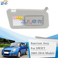 Ayna Gri Renk ile ZUK Oto Araba Sunvisor Güneşlik Kalkanı antidazzle Gölge Güneşlik İçin Suzuki Swift 2006-2016 Splash 2011