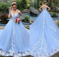 Stunning White Lace Wedding Dresses Sheer Jewel A Line Appli...