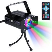Luces del partido del disco de DJ de la etapa LED luces estroboscópicas con Sound Control Remoto activó el color giratoria para el hogar cumpleaños Karaoke DJ Partes Noche