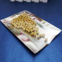 5x7см карман для пинга, 200 штук х с открытым верхом Алюминиевые пакеты с прозрачным покрытием, передние прозрачные пакеты из майларовой фольги