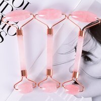 Pink Double Head Massage Roller Jade Roller Face Thin massag...