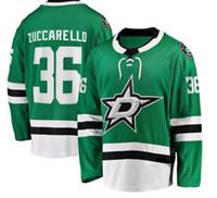 Men's Dallas Stars 36 Zuccarello Fanatics Green Breakaway Jogador Hóquei Jersey, 14 Benn 30 Bishop 91 Seguin Roupas Jerseys usa
