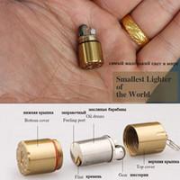 Yeni Mini Kompakt Gazyağı Çakmak Kapsül Benzin Çakmak Şişirilmiş Anahtarlık Benzin Çakmak Taş Çakmak Açık Araçları