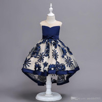 2019 Embroidery Floral Dress Girls for Weddings Baby Tutu Dr...