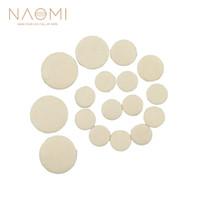 NAOMI 17 ADET Klarnet Pedleri Deri Klarnet Yedek Pedleri Nefesli Enstrüman Parçaları Aksesuarları Beyaz