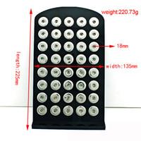 Supporto dell'esposizione dei gioielli del bottone a schiocco di Noosa nero dei pezzi per il supporto di gioielli di schiocco dello zenzero di 40pcs 18MM e di 60pcs 12MM