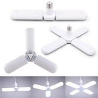 30W 45W 60W E27 LED lampadine SMD2835 Super Bright Pieghevole Fan Blade Angolo Regolabile Lampada da soffitto regolabile Home Lights a risparmio energetico