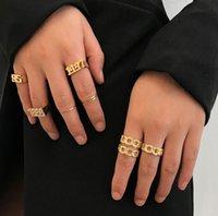 anillo conjunto combinación transfronteriza nueva personalidad modelo explosión europeos de América exagerada diamante ring1181 conjunta