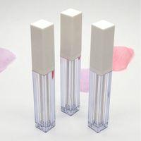 Bouteille en gros carré blanc transparent brillant à lèvres 4 ml Vider Lipgloss liquide Tubes Lip Gloss Bouteilles contenants réutilisables Emballage de maquillage