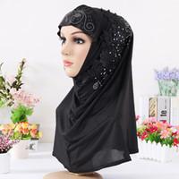 Islam Masque Musulman Foulard Haute Qualité Mode Soie Chaud Foret Long Écharpe Femme Été Couverture Nationale Du Vent VF0011