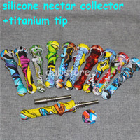 Wholesale narcohs Silicone Nectar Collector Kit avec GRA2 14MM TIPS TITANIUM TIPS MINI NC DAB TOOL