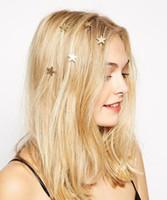 Europa joyería de moda linda perla estrella tornillo giratorio pinzas para el cabello brotes cabeza plato horquilla de pelo pinza de accesorios accesorios S134