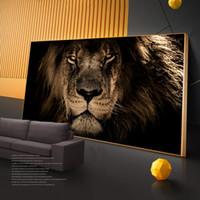 벽 그림 홈 인테리어 Cuadros에 큰 아프리카 사자 머리 벽 아트 캔버스 포스터 인쇄 동물 예술 캔버스 회화