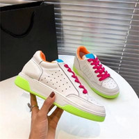 2020 Mens Womens Chaussures Shoe Beautiful flat Casual Sneakers Luxury Designers Shoes Leather Jelly color lace-up Dress Shoes original box