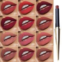 Горячий Макияж губ Lip придерживаться Красочный блеск для губ бальзам губная помада Губы Косметика с коробкой 12 цветов Бесплатная доставка