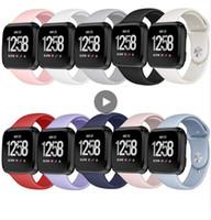 Fitbit versa band için Renkli Silikon Yedek Kordonlu Saat Akıllı Aksesuarları Bilezik Bilek Kayışı Küçük Büyük Boy