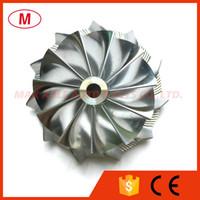 CT10 46.02 / 58.00mm 11 + 0 palas Turbo del alto rendimiento del billete rueda del compresor / Aluminio 2618 / rueda de fresado de turbocompresor Cartucho / CHRA