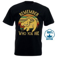 Simba Remember Who You Are Vintage Men' S Black Cotton T...