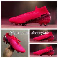 2020 en kaliteli futbol ayakkabıları Mercurial Superfly 7 Elite FG CR7 futbol krampon Neymar krampon Vp 13 scarpe da calcio mens