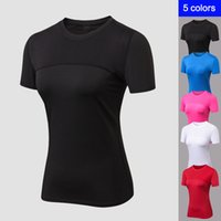 O- neck Top Female T- shirt Sport Breathable Top Fitness Women...