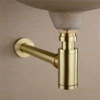 Bagno del dispersore del bacino rubinetto della bombola sifone TRAP Kit piletta di scarico di deodorizzazione Spazzolato Oro / Nero / Bronzo / Chrome