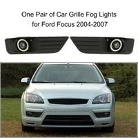 Freeshipping Par de Carro Inferior Bumper Grade Faróis de Nevoeiro Lâmpada LED para Ford Focus 2004-2007
